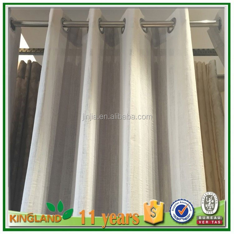 Fancy 100%polyester jacquard window 100% polyester fashion plain crystal sheer cheap sheer curtains