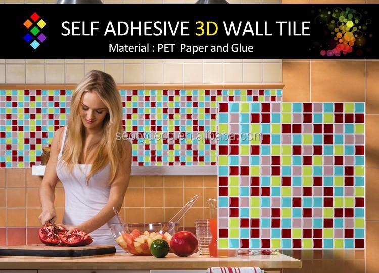 Petit carr mosa que cuisine salle de bain d coratif - Mosaique auto adhesive salle de bain ...