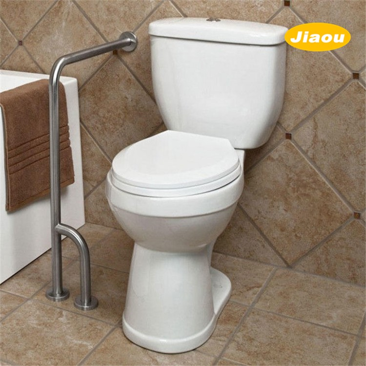 ADA Compliant handicap toilet wall to floor grab bar brushed for disabled