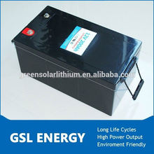 Rechargeable lithium electric bus battery 12v 200ah with BMS or PCM