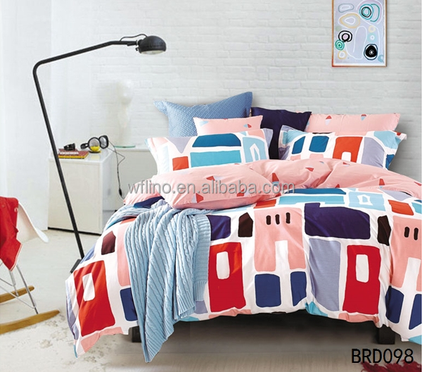cotton textile mills bedsheet patchwork quilt bedding set