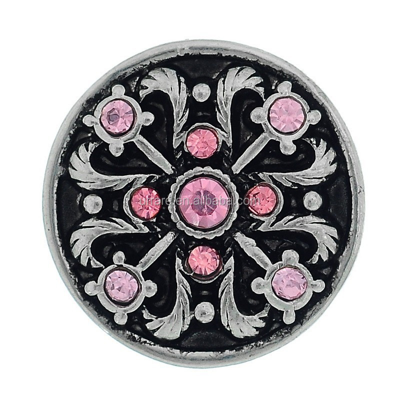 New Snap buttons Alloy Rhinestone Glass Cross Chunks Snap Button Charm Jewellry Fits Noosa chunks Bracelet