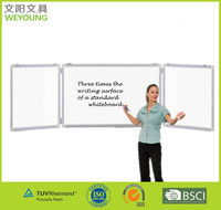 Dry Erase Folding Magnetic Whiteboard with tray Aluminum frame marker board