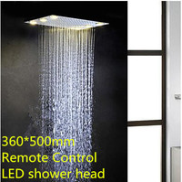 Engineer Project 360*500mm Recessed Ceiling Remote Control Led Shower