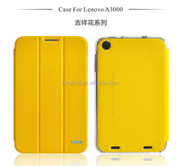 Factory quality soft folio cover leather case for lenovo a3000