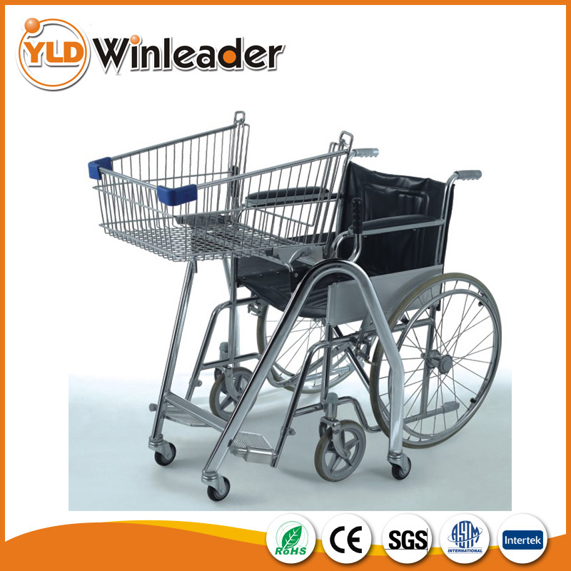 Supermarket handicapped cart,disabled shopping cart,shopping trolleys for elderly