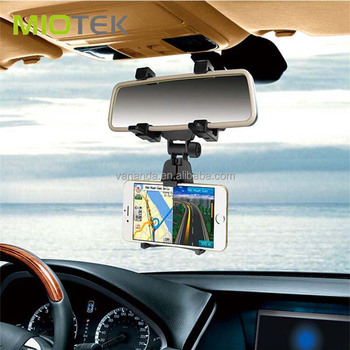 Universal Rearview Mirror Car Phone Holder Miotek Brand Smartphone Holder Stand For Iphone Mobile Phone
