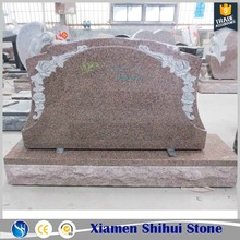 Pink granite headstones cheap prices for sale