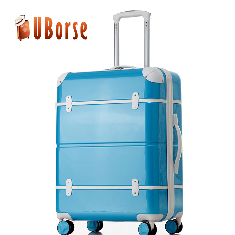 Nice design vintage durable travel suitcase luggage with 4 free wheels
