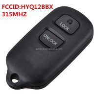 HYQ12BBX Smart case for toyota 2+1 button remote control 315mhz with chip