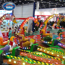 Children Theme Park Equipment Rotating Dinosaur Fairground Game