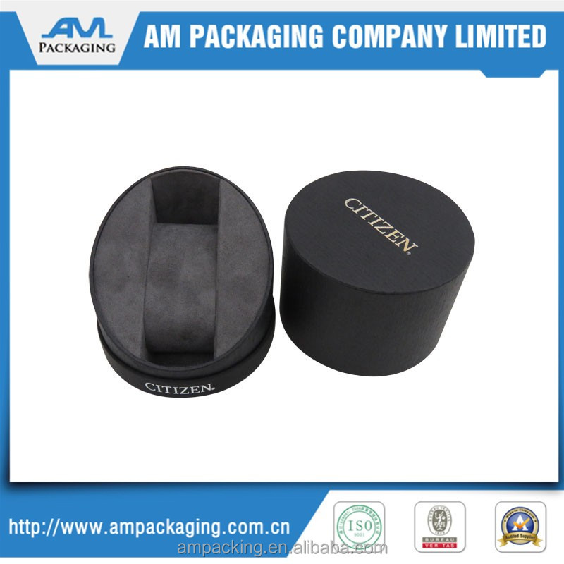 Round shape packaging paper board ring box jewelry box for watch