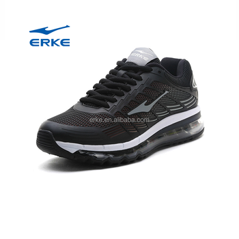 wholesale hot sales PU ERKE brand air cushion sports running shoes for mens