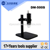 DM 500S 500X New arrival Stainless steel USB microscope with LED lamp and stand