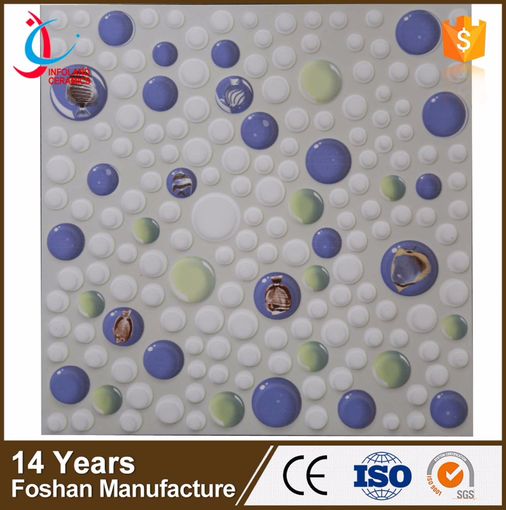 300x300mm crystal ocean blue color, glazed floor tile