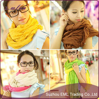 China's cheap scarf cotton and linen fold changed lady scarf