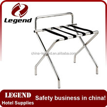 Hot Sale Chrome Hotel Room folding used hotel luggage rack