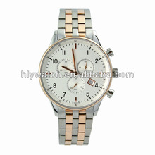 2014 upscale fashion chronograph watch,quartz wrist watch,popular custom sports all stainless steel watch with date from China