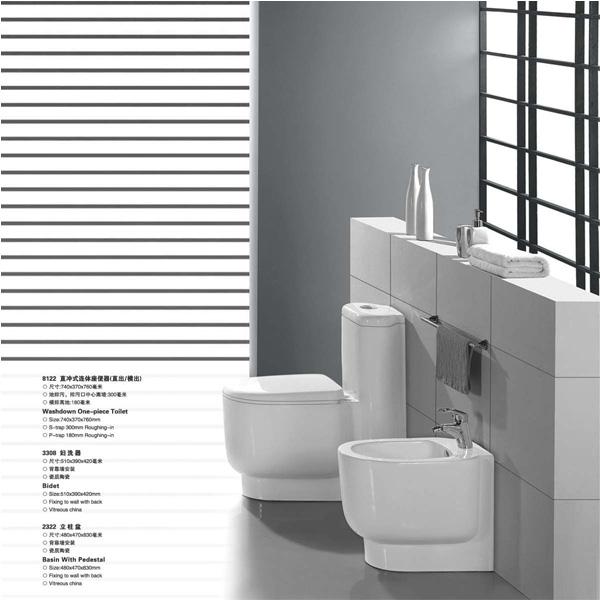 Super White Clean Two Piece Toilet Bathroom Ceramic
