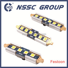 Festoon base LED replacement bulbs for car interior lights