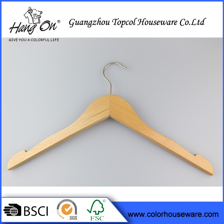 Clothing Hanger Wooden Manteaux Wooden Hanger Supplier