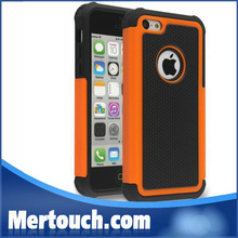 Football skin combo hard PC + TPU back cover mobile phone case for iphone 5C