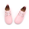 2 - 6years kids dress shoes pink leather hard sole toddler children oxford shoes