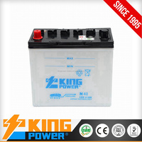 12V N40 JIS standard 40AH Dry charged cheap auto battery electric car battery