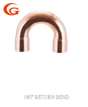 180 degree return bend End feed copper fitting full or part crossover