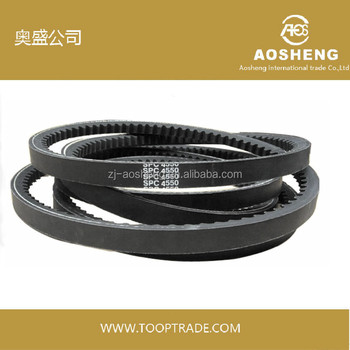 Hot selling Raw Edge Cogged transmission V Belt auto adequate quality spare parts