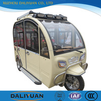 Daliyuan electric closed body motorized tricycle in india closed cabin passenger tricycle