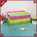 Simple storage box for dirty clothes plastic rattan basket with handle
