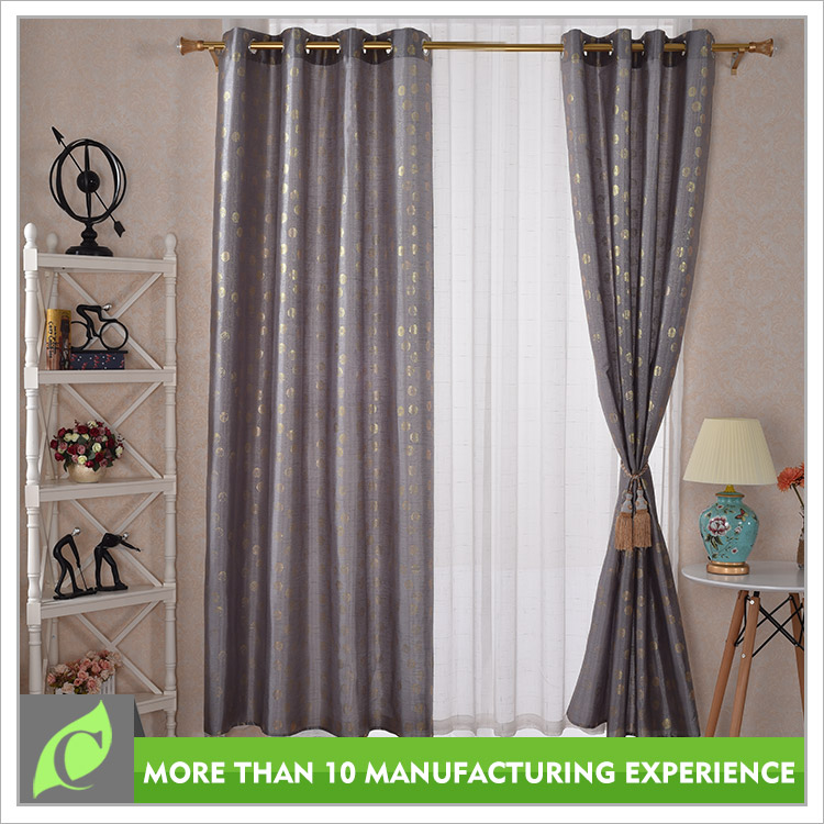 Professional manufacturer Beautiful Luxury print fabric curtain