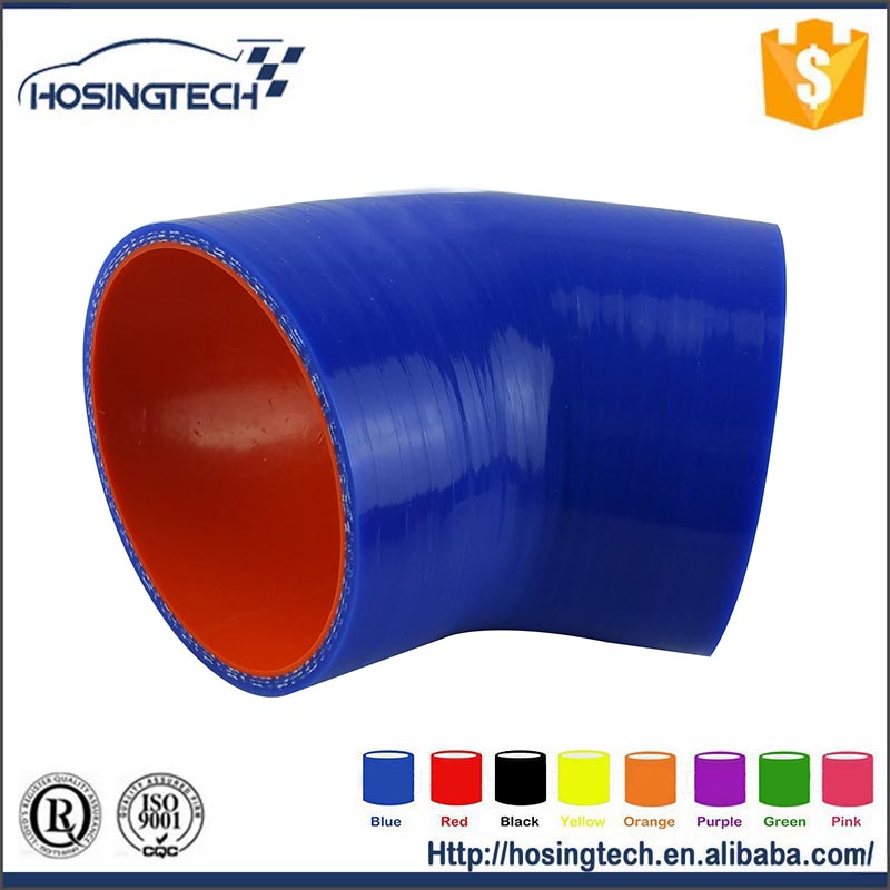 car parts blue elbow silicone flexible water auto fuel hose(ID 57mm Thk 4.5mm Leng 80*80mm)