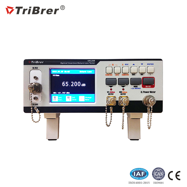 TriBrer Fiber Optic Insertion Return Loss Tester GRL200 Insertion Loss and Return Loss Test Station