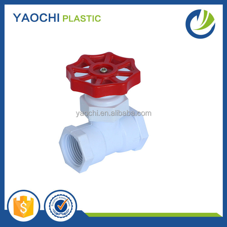 hot sale good quality irrigation ABS handle thread pvc plastic safety angle water stop cock valve
