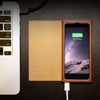 2800mAh Flip Cover Leather Battery Case for Iphone6 6S