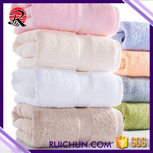 RuiChun Textile anti-bacteria soft absorbent quick dry bath towel 100 cotton