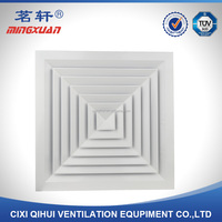 Square air conditioning ceiling diffuser for ventilation