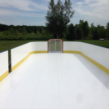 Vibration-absorption UHMWPE material glide ice rink / mobile hockey ice rink
