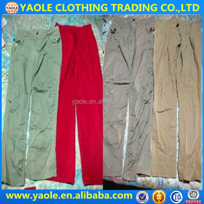 Men cotton pants used clothes in houston used clothing brand name