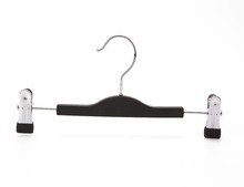 Eisho-betterall High Quality Gold Black Plastic Pants Hanger Cheap With Clips