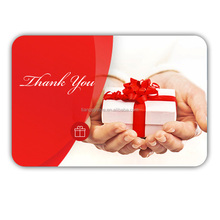 Eco-friendly Gift Plastic Card Printing embossed PVC Gift Card