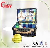 cheap wicker empty picnic basket for sale