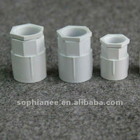 Hot Electrical PVC Threaded Plastic Pipe Fittings