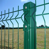 6 Gauge,2 inch x 6 inch,1.8 m x 2.4 m,Three peak curved welded wire mesh road fence