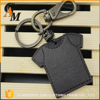 Promotional oem clothes logo key tag fashion key chain coin holder custom metal key ring
