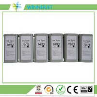 compatible Ink Cartridge with dye ink for hp, disposable Ink Cartridge For HP72