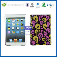 C&T New arrival skull design plastic case for apple mini ipad