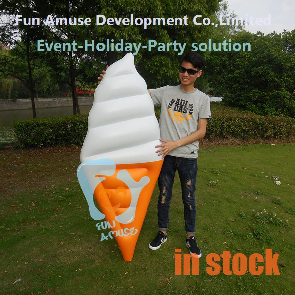 Summer party adult pool toys giant inflatable ice cream cone